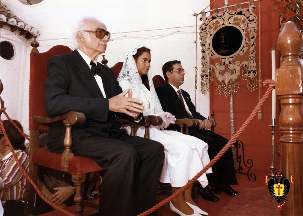 De izquierda a derecha: Francisco Palma Burgos, Doña Susana Rueda Barrera y D. Eduardo Molina Duarte.